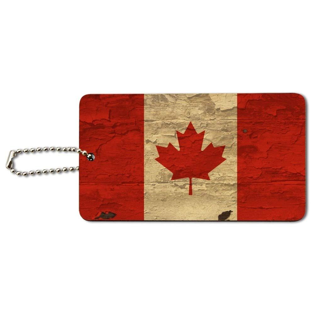 Amazon.com: Bandera rústica envejecida de Canadá en madera ...