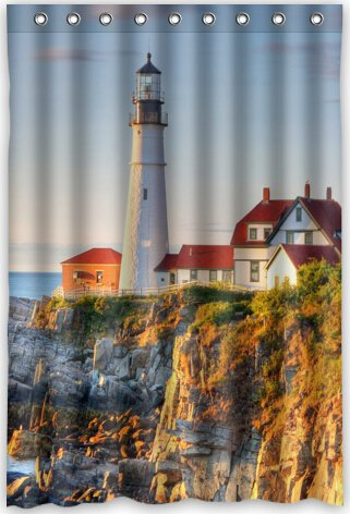 Lighthouses Bath (Lighthouse Popular Bath Curtain Shower Curtain (48