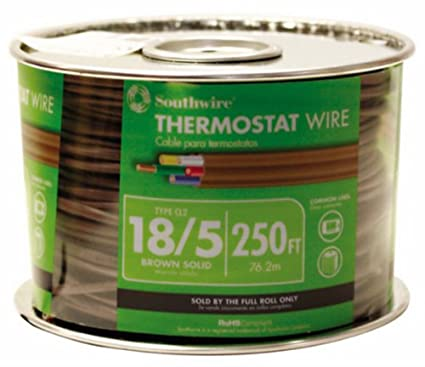 southwire 64169644 18 5 250 feet 5 conductor thermostat wire 18 rh amazon com standard thermostat wire gauge thermostat wire 16 gauge