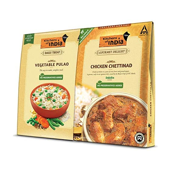ITC Kitchens of India Combo Pack - Chicken Chettinad,285g and Vegetable Pulao, 250 g