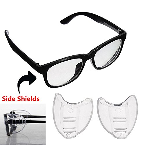 ddd77663056 Forfar 2Pcs Goggles Glasses Side Shields Safety Protection Eye Protector  Flexible Clear Universal Unisex  Amazon.co.uk  Sports   Outdoors