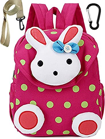 Small Toddler Kids Backpack School Bags Rabbit for Girls (Pink) Under 3 Years - Pink Kids Bag