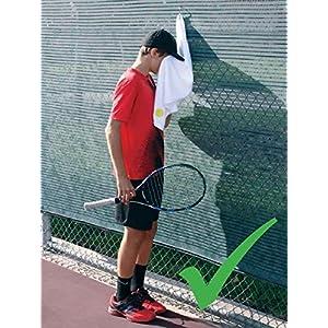 מגבת טניס שנשארת נקייה! זה יכול להיות מחובר בנוחות לכל דבר.