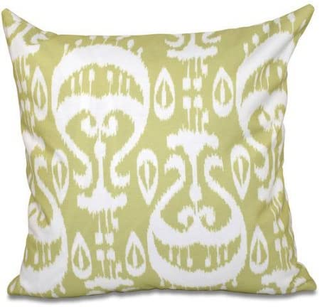 Amazon Com Simply Daisy 16 X 16 Ikat Geometric Outdoor Pillow Green Home Kitchen