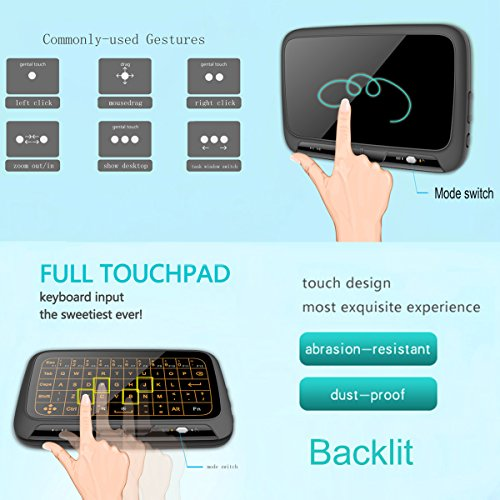 SHOPUS | Mini Keyboard Touchpad, 7Lucky Backlit 2 4G USB