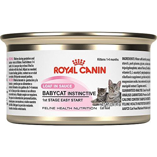 Royal Canin Feline Health Nutrition Baby Cat Instinctive Loaf in Sauce Canned Kitten Food, 3 oz.