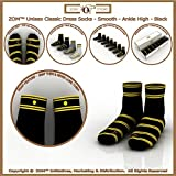 ZOM Dress Socks for Mens, Women: 7 Pk Sock Snap Patented Sox. Smooth-Ankle High
