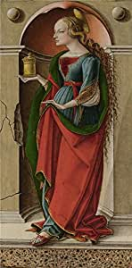 Perfect effect canvas ,the High Resolution Art Decorative Canvas Prints of oil painting 'Carlo Crivelli Saint Mary Magdalene ', 16 x 33 inch / 41 x 83 cm is best for Bathroom decoration and Home decor and Gifts
