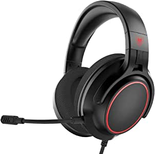 NUBWO N20 Stereo Gaming Headset with Detachable Unidirectional Mic, Work from Home Headphones with Microphone Compatible for PS5, PS4, Xbox Series X, Xbox One Controller, Switch, PC, Laptop, Mac