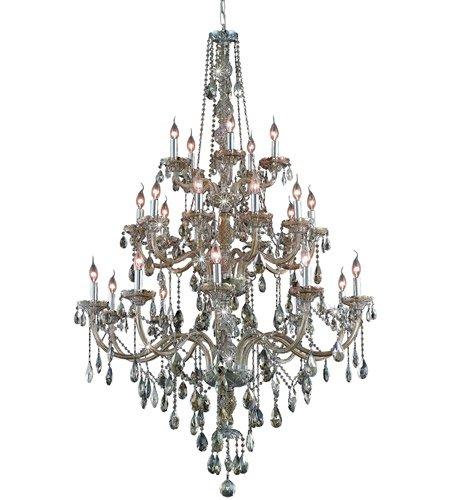 (Pendants Porch 25 Light With Golden Teak (Smoky) Crystal Royal Cut Golden Teak size 43 in 1500 Watts - World of Classic)