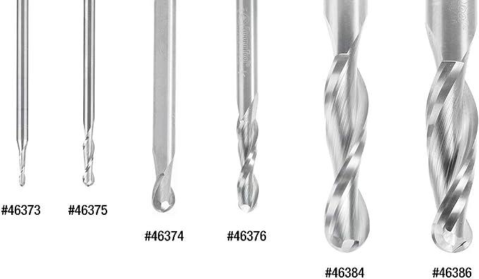 46375 Solid Carbide Up-Cut Ball Nose Spiral 1//8 Dia x 1//2 x 1//8 Shank RO Amana Tool