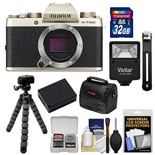 Fujifilm X-T100 Digital Camera Body  with 32GB Card + Batter