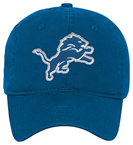 Outerstuff NFL Boys 4-7 Team Slouch Adjustable Hat-Lion Blue-1 Size, Detroit Lions