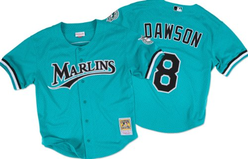 Mitchell And Ness Andre Dawson Marlins Baseball Jersey