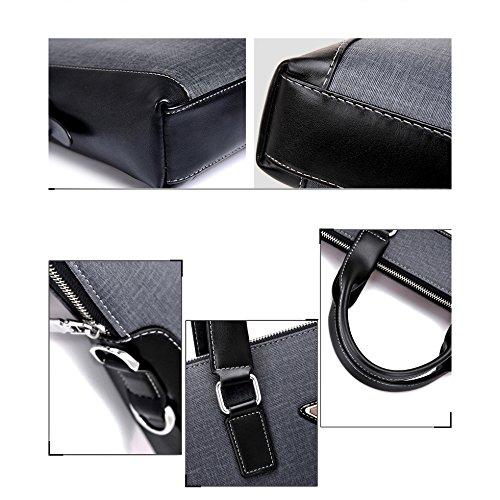 Herren Business Fashion Handtasche Schultertasche Casual Computer Tasche Querschnitt Aktentasche Blue A2iSXL