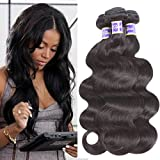 Brazilian Body Wave 3 bundles 100% Unprocessed Virgin Human Hair Extensions Sale Brazilian Hair Weave bundles 100g Natural Color Can be Dyed (12 14 16) Review