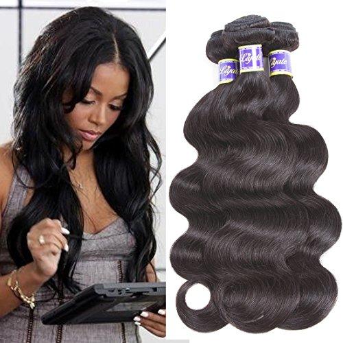 Brazilian Body Wave 3 bundles 100% Unprocessed Virgin Human Hair Extensions Sale Brazilian Hair Weave bundles 100g Natural Color Can be Dyed (12 14 16) Review
