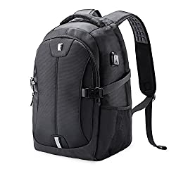 """Laptop Backpack, Sosoon Anti Theft Business Travel Rucksack Computer Bag for Women & Men, Water Resistant College School Bookbag, Casual Daypack with USB Charging Port Fits 15.6"""" Laptop & Notebook"""