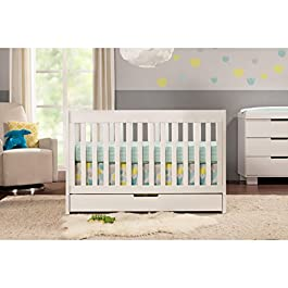 Mercer 3-in-1 Convertible Crib with Pure Core Non-Toxic Crib Mattress with Dry Waterproof Cover