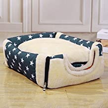 "HMMS 2-in-1 Pet house Pet igloo and Sofa Washable Dog Cat Beds with Warm Mat (L(22""L x 18""W x 17""H))"