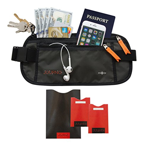 Travel Money Belt - RFID-Blocking Waist Wallet. Protect Your Phone, Passport & Credit Cards in This Comfortable, Sleek, Secret Fanny Pack. Perfect for Running, Hiking & Vacation Traveling (2 Styles)