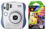 Fujifilm Instax Mini 26 + Rainbow Film Bundle - Blue/White (Small Image)