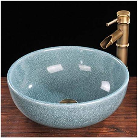 ミニ型洗面台,省スペース 陶器 洗面ボール 洗面ボウル 楕円形 洗面台 手洗器 洗面台 手洗い鉢 おしゃれ 洗面ボ ガラス 手洗い鉢 手洗い器 壁付け型 (Size : M)