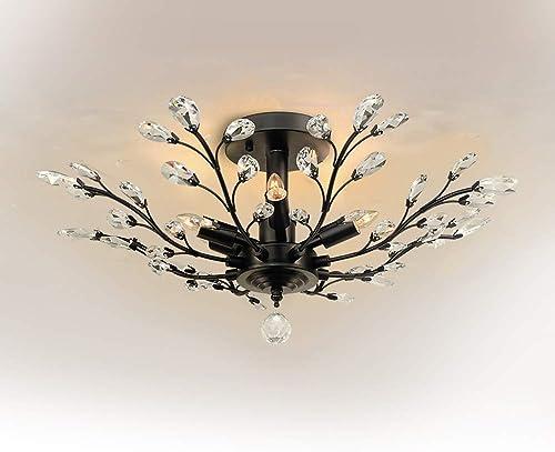 Novogratz x Globe Electric 65221 Globe Myrcella 8-Light Wrapped Round Vintage Chandelier, Color, Satin Finish, 38.58 , Dark Bronze with Twine