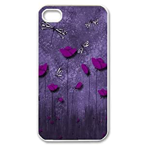 Beautiful Dragonfly Unique Design Cover Case for Iphone 4,4S,custom case cover ygtg-309855