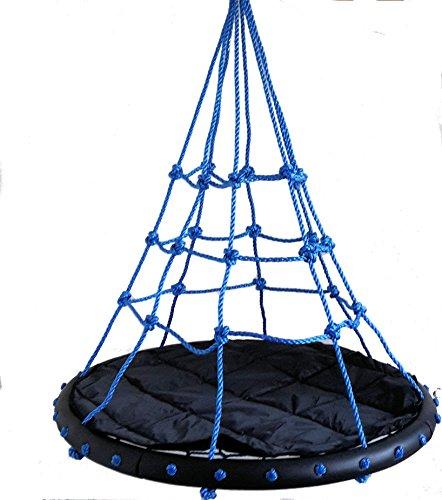 Nestschaukel SPYDER NEST SWING Bubble Blue mit Auflagekissen Netzschaukel Kinderschaukel Tragkraft 200 kg
