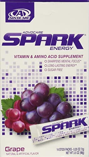 Advocare Spark Energy Drink 14'single'serve pouches - Grape - 3.5oz