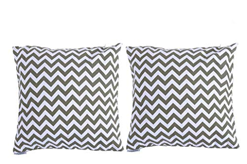Kpblis Decorative Cozy Throw Pillow Cases Covers with Invisible Zipper, Sofa Home Decor, Modern Simple Style for Couch, Sofa or Bed – 18″ x 18″, 2PCS Review