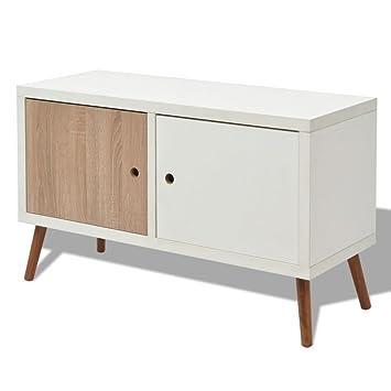 Vidaxl Tv Cabinet With 2 Doors Media Dvd Units Beech Wood Home