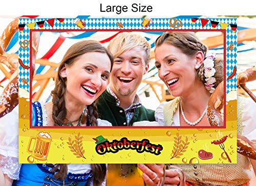 Large Size Oktoberfest Photo Frame Decorations - German Beer Festival Booth Props Party Supplies(Assembly Needed) -