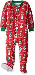 Sara's Prints Unisex Kids Soft Footed Pajamas