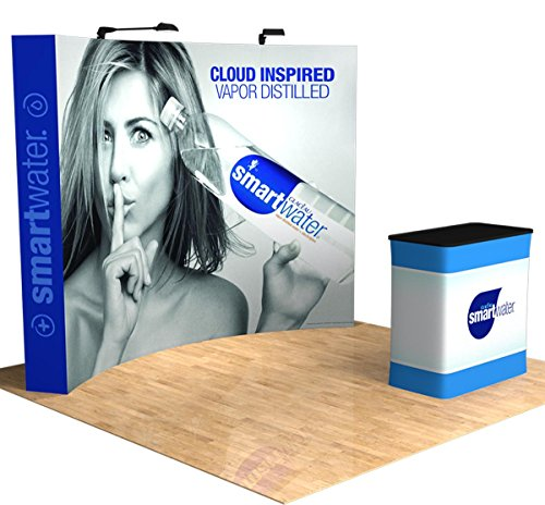 Galaxy Displays - 10ft Perfect-Pop Curved Custom Tension Fabric Pop Up Trade Show Display - Tension Display 10' Fabric