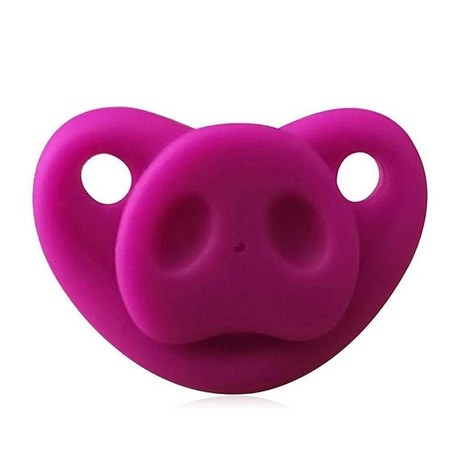 Amazon.com: Tinffy Chupete de nariz de cerdo de dibujos ...