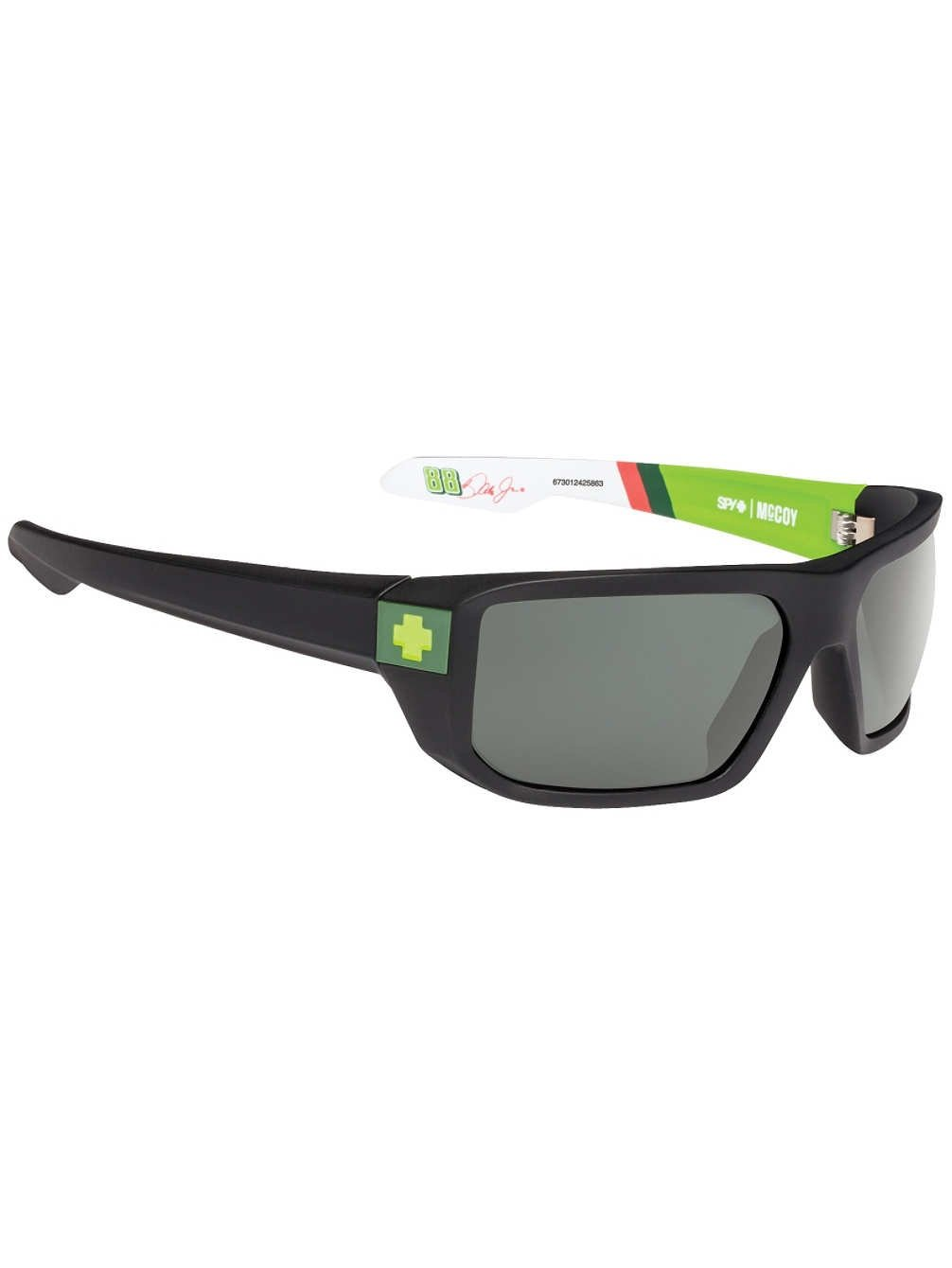 Spy Optic Men's Mccoy Rectangular Sunglasses, Diet Dew Livery/Happy Gray/Green, 63 mm