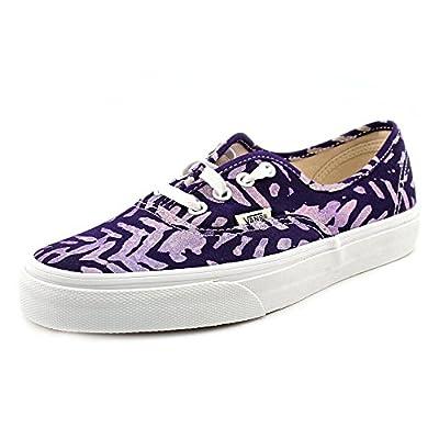 Vans Unisex Authentic Della Lace Up Sneakers-Batik/Multi-4.5