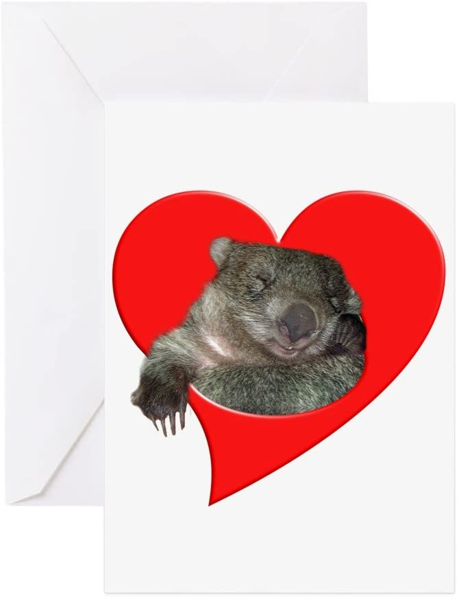 Wombat Australian Greeting Card Blank Inside