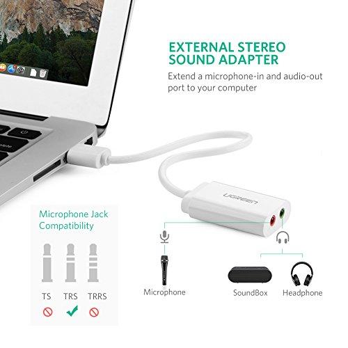 UGREEN Universal USB Stereo Audio Adapter LR Channel