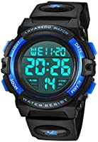 Kid's Watch,Boys Watch Digital Sport Outdoor Multifunction Chronograph LED Waterproof Alarm Calendar Analog Watch for...