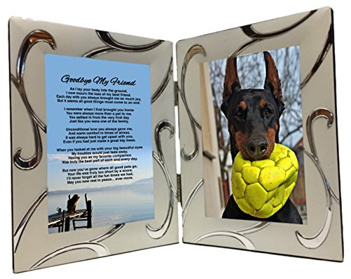 Pet Dog Bereavement Photo Frame Gift, Unique Sentimental Sympathy Memorial Poem in 4 x 6 Inch Silver Double Picture Frame - Just Add Your Own Picture by Words Matter Gifts