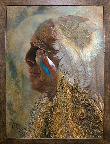 Frame USA Wicasa Wakan (the Holy Man) Framed Print 42.5''x31.5'' by Denton Lund, 42.5x31.5, Cafe Mocha by Frame USA