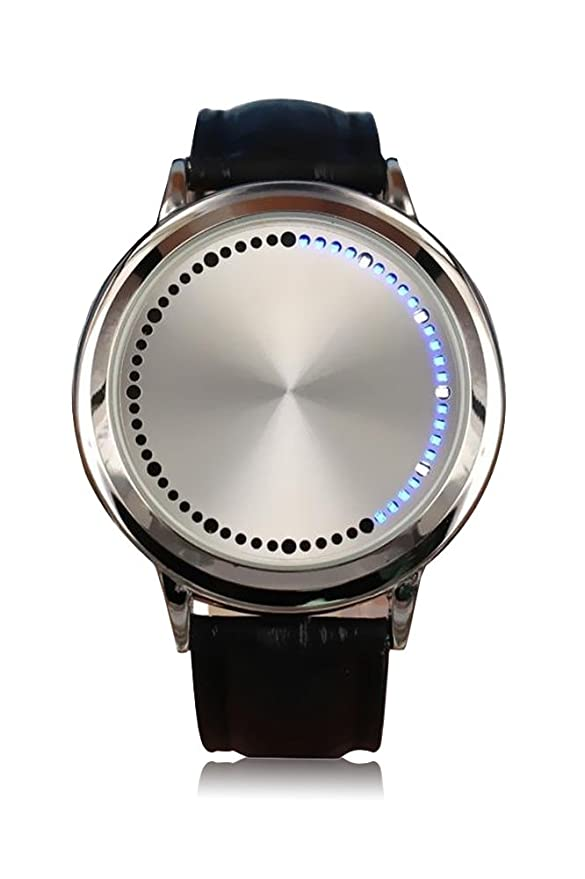 9 opinioni per Stile Semplice Impermeabile LED Touch Screen Watch PU pelle Orologio da polso