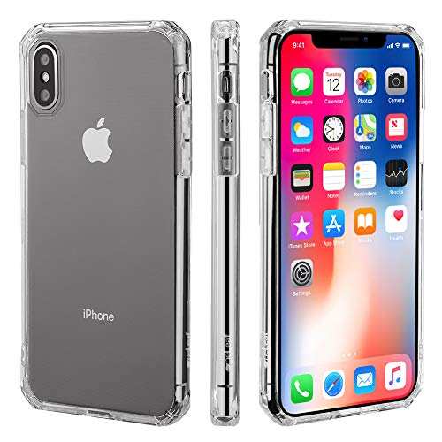 OneLeaf TPU Phone Case for iPhone Xs, Slim Fit Protective Phone Cover with Reinforced Corners,Anti-Scratch Shockproof