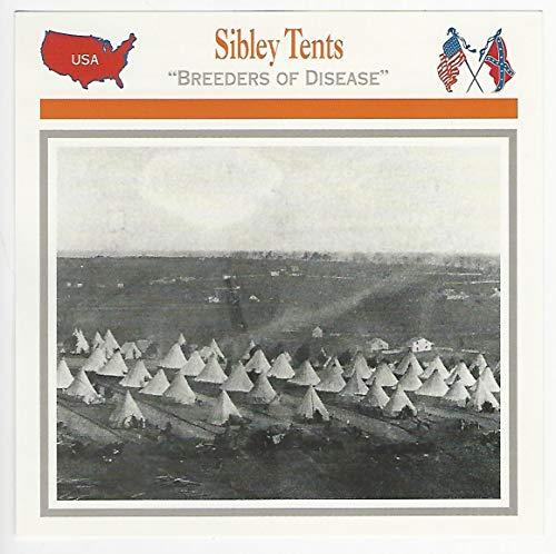 1995 Atlas, Civil War Cards, 53.12 Sibley Tents, Fort Lyon, Virginia - Virginia Tent