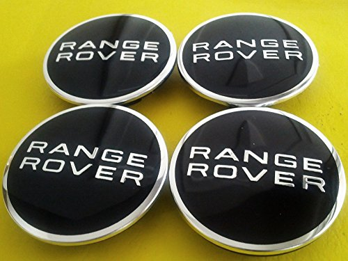 4 X .Range Rover Land Rover Supercharged BLACK Badge Wheel Center Hub Caps (1995 Range Rover)