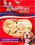 Pet Factory 28352 American Beefhide Vanilla Flavored Chips for Dogs, 22oz