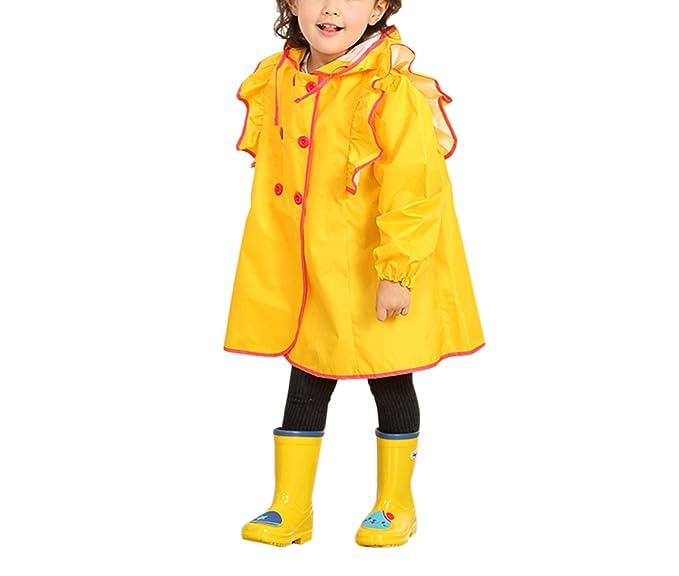 zhxinashu Niños Chaquetas Impermeable Chica Volante Princesa Linda BebÉ Mujer Ropa Poncho Abrigos Trench Gabardinas: Amazon.es: Ropa y accesorios